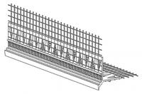 Профіль кутовий з капельником Ceresit СТ-340 D / 29.2 М, 20 мм х 20 мм х 2,5 м, сіткою