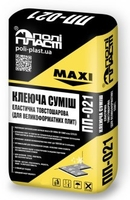 Клейова суміш еластична товстошарова для великоформатної плитки і каменю Поліпласт ПП-021, 25кг