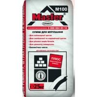 Суміш цементно-піщана для кладки і ремонту поверхонь М100 (сіра) Майстер Елемент, 25кг