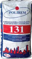 Клей-шпаклівка для пінополістирольних плит Полірем 131, 25кг