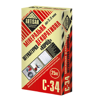 Артисан С-34 «короїд», декоративна мінеральна штукатурка, 25 кг