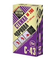 Стяжка для підлоги Артисан С-43 чорновий шар 15-35мм, 25 кг